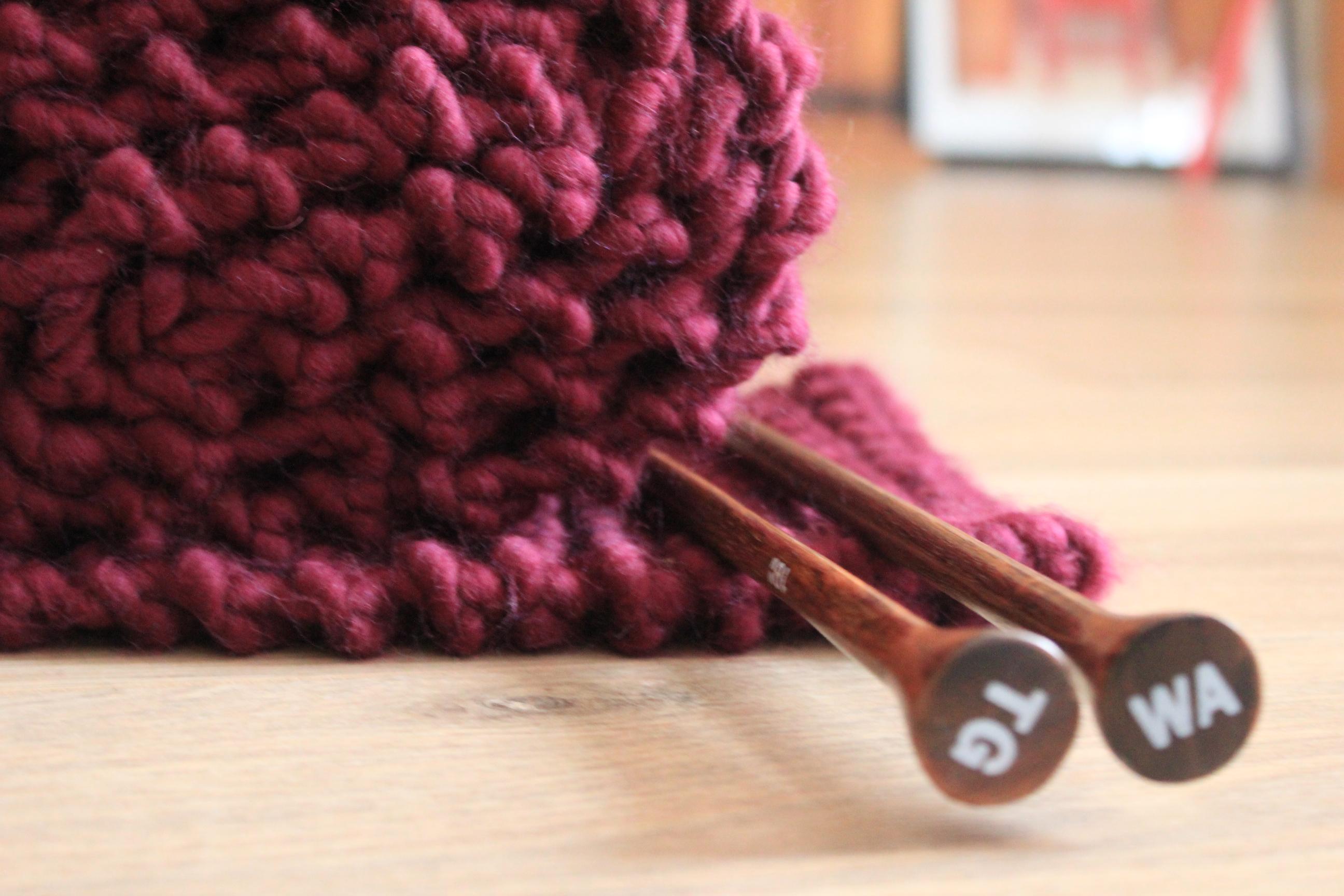 f07bda4d45ec Modele echarpe a tricoter grosse laine - Laine et tricot